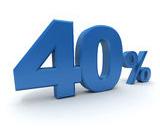 40% zlepšenie